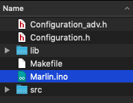 Launch 'Marlin.ino'